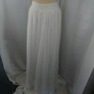White Lace overlay full skirt